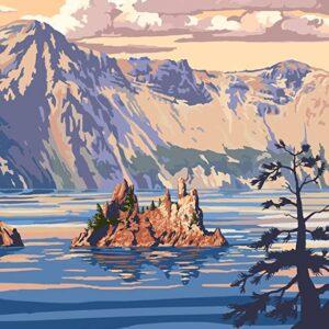 Vintage Crater Lake National Park Poster