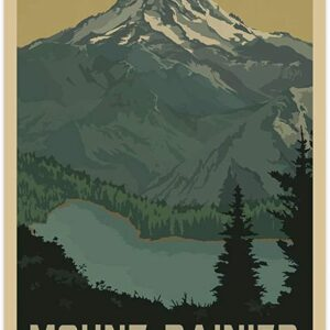Vintage Mount Rainier Poster