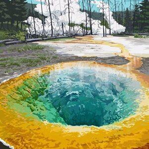 Yellowstone Morning Glory Pool Print