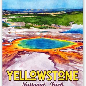 Yellowstone National Park Paint Pots Poster