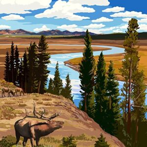 Yellowstone National Park Wyoming Poster
