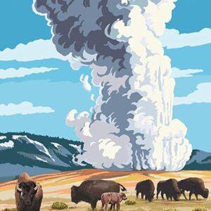 Yellowstone Old Faithful Geyser Poster