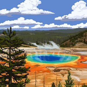 Yellowstone Wyoming Grand Prismatic Spring Print