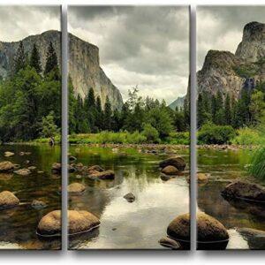 Yosemite California Tri Panel Art Print