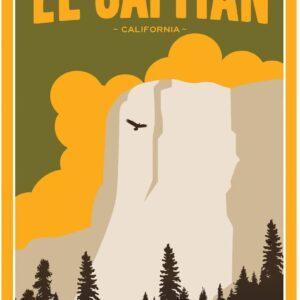Yosemite National Park El Capitan Poster