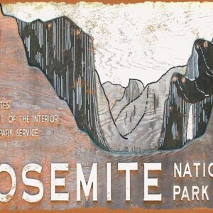 Yosemite National Park Mountain Retro Decor