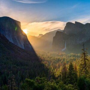Yosemite National Park Sunrise Wall Art