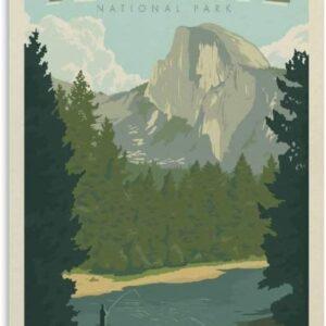 Yosemite Vintage Half Dome Print