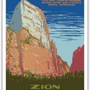 Zion Great White Throne Mountain Poster