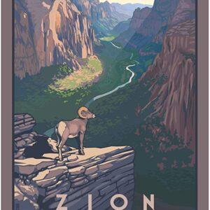 Zion National Park Bighorn Sheep Poster