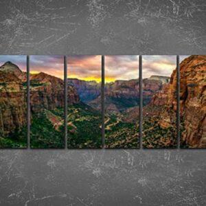 Zion National Park Canyon Overlook Panoramic Print