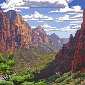 Zion National Park Poster Canyon View