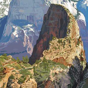 Zion National Park Utah Angels Landing Print