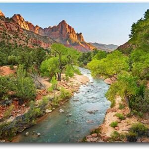 Zion National Park Utah River Canvas Print