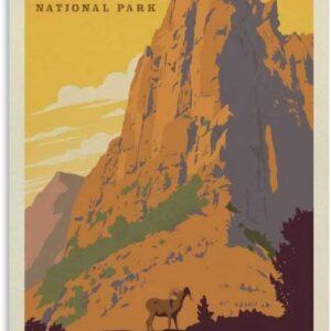 Zion National Park Vintage Poster