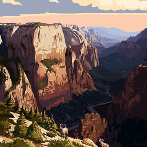 Zion National Park Zion Canyon Sunset Poster
