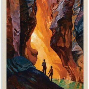 Zion Vintage Travel Poster Art Print