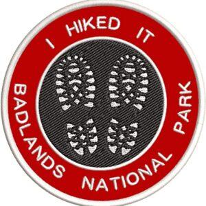 Badlands National Park Hiking Patch