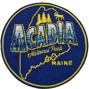 Blue Acadia National Park Embroidered Patch