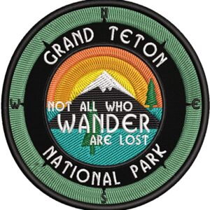 Grand Teton Wander Quote Patch
