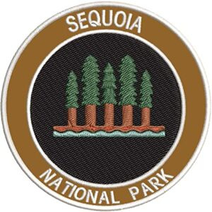 Iron On Sequoia Forest National Park Patch