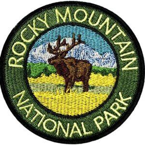 Retro Rocky Mountain National Park Patch