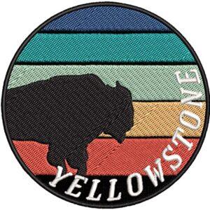 Retro Sunset Yellowstone National Park Patch
