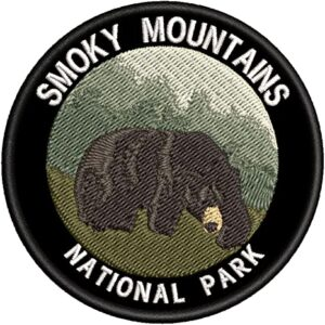Smoky Mountains National Park Embroidered Bear Patch