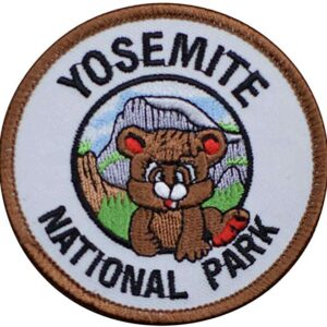 Yosemite National Park Bear And Half Dome Patch