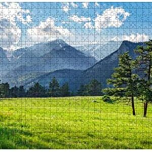 1000 Rocky Mountain National Park Wooden Puzzle