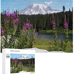 500 Piece Mount Rainier National Park Wildflower Puzzle