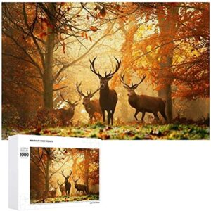 500 Pieces Wooden Great Smoky Mountains Animal Deer Puzzle