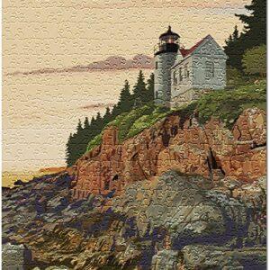 Acadia National Park Bass Harbor Lighthouse Puzzle
