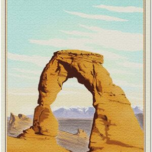 Arches National Park Lithograph Jigsaw Puzzle