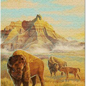 Badlands National Park Bison Puzzle