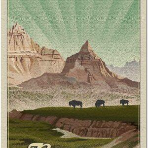 Badlands National Park Bison Sunrise Puzzle