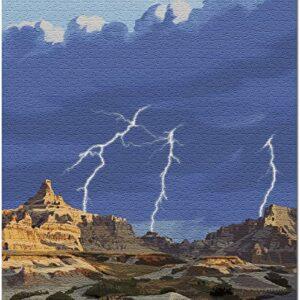 Badlands National Park Lightning Storm