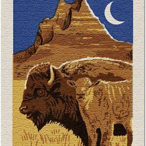 Badlands National Park Night Bison Puzzle