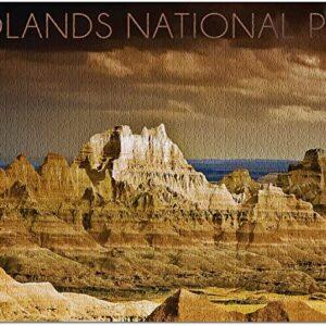 Badlands National Park Stormy Jigsaw Puzzle