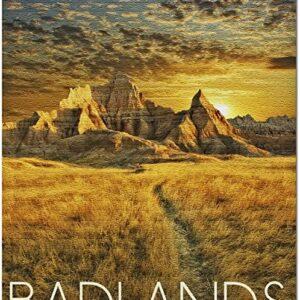 Badlands National Park Sunset Jigsaw Puzzle