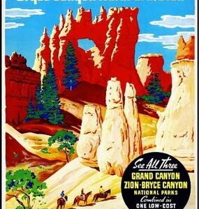 Bryce Canyon National Park Vintage Railroad Puzzle