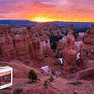 Bryce Canyon National Park Wooden Sunset Jigsaw Puzzle