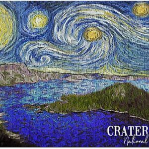 Crater Lake National Park Starry Night Puzzle