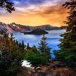 Crater Lake Oregon National Park Puzzle