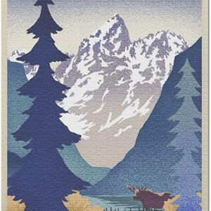 Grand Teton National Park Lithograph Jigsaw Puzzle