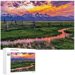 Grand Teton National Park Sunset Puzzle