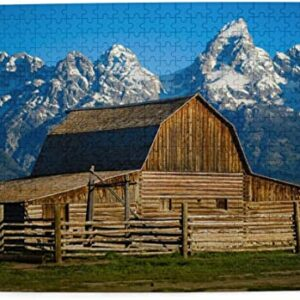 Grand Teton National Park Wood Barn Jigsaw Puzzle