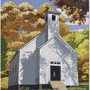 Great Smoky Mountains Cades Cove Baptist Church Puzzle