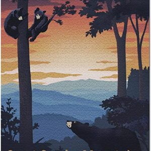 Great Smoky Mountains National Park Black Bear Family Puzzle