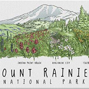 Mount Rainier National Park Wildflower Jigsaw Puzzle